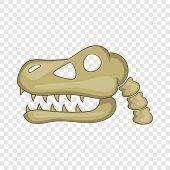 Dinosaur Skull Icon. Cartoon Illustration Of Dinosaur Skull Vector Icon For Web poster