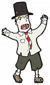 image of hobo  - hobo in top hat cartoon  - JPG