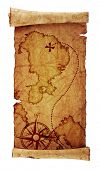 stock photo of treasure map  - old treasure map - JPG