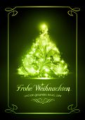 stock photo of weihnacht  - Festive gold background with out of focus light dots - JPG