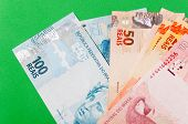 stock photo of brazilian money  - new model of Brazilian money - JPG