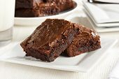 picture of chocolate fudge  - Fresh Homemade Chocolate Brownie against a background - JPG