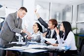 stock photo of terrifying  - Business people conflict working problem - JPG