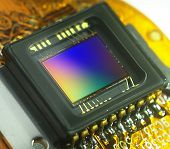 picture of diffraction  - close up of a ccd images sensor - JPG