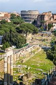 The Forum Romanum In Rome