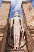 Buddha Image In Historical Park, Thailand poster