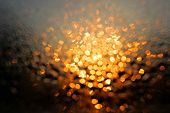 stock photo of diffusion  - Diffused morning lights seen through wet window - JPG