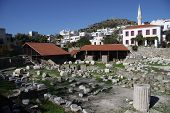 stock photo of mausoleum  - Ruins of Mausoleum at Halicarnassus in Bodrum - JPG