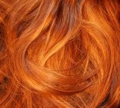 image of red hair  - red hair texture - JPG