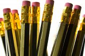 picture of splayed  - A bunch of pencils splayed in a pot - JPG