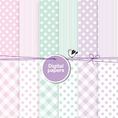 stock photo of paper craft  - baby shower design elements  - JPG