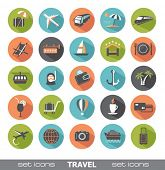 foto of crockery  - Set of modern flat travel icons - JPG