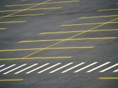 picture of parking lot  - An empty parking lot freshly built and painted - JPG