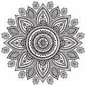 pic of indian culture  - Beautiful Indian floral ornament for your business - JPG