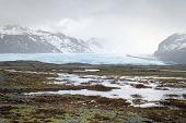 stock photo of crevasse  - View on Brei - JPG