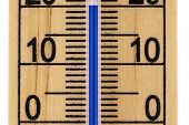 Straight Close Up Mercury Room Thermometer In Celcius poster