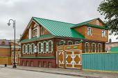 image of tatar  - decorative wooden houses in old Tatar Sloboda Kazan Russia - JPG