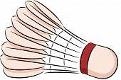 stock photo of shuttlecock  - vector illustration of a badminton shuttlecock - JPG
