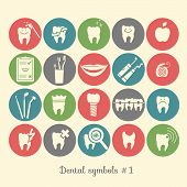 Постер, плакат: Set of dentistry symbols part 1