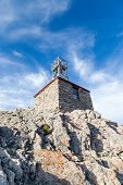 stock photo of cosmic  - Remains of the Sulphur Mountain Cosmic Ray Station in Banff National Park - JPG