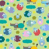 image of counting sheep  - Sheep and wolf  - JPG