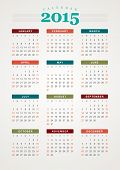 stock photo of tuesday  - Calendar 2015 year vector design print template - JPG