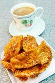 pic of crisps  - caramelized crisps thai dessert made of flour and sugar - JPG