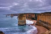 stock photo of apostolic  - gibson steps and the twelve apostoles along great ocean road - JPG