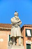 foto of stature  - Nicolo Tommaseo monument in Campo Santo Stefano in Venice Italy - JPG