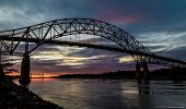pic of cod  - Bourne Bridge in Cape Cod at Sunset - JPG