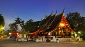 stock photo of thong  - Wat Xieng Thong Temple Luang Prabang Laos - JPG