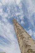 image of obelisk  - Walled Obelisk in Sultanahmet Square in Istanbul City - JPG