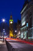 picture of london night  - Speed motion at night London - JPG