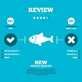 picture of fish icon  - Review with five stars rating - JPG