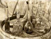 Постер, плакат: Vintage Glass Utensils