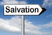 stock photo of salvation  - salvation by trust in God and Jesus - JPG