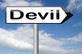 stock photo of satan  - devil evil satan burn in hell   - JPG