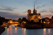 Rosy Evening At Notre Dame De Paris