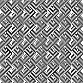 stock photo of trapezoid  - Black and white geometric stripe seamless pattern abstract background vector eps10 - JPG