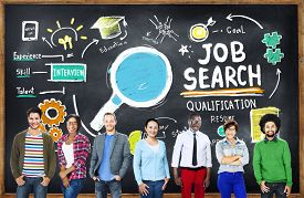 stock photo of professor  - Ethnicity Business People Career Job Search Concept - JPG