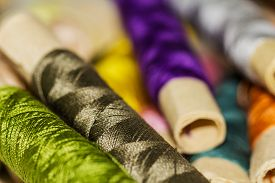 foto of rayon  - Colorful Sewing Thread Pattern - JPG
