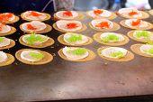 pic of crepes  - Making thai crispy pancake  - JPG