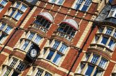 stock photo of knightsbridge  - Front of an elegant Hotel in London - JPG
