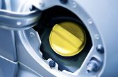 picture of inlet  - Yellow Cup of Car Fuel Inlet - JPG
