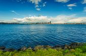 picture of washington skyline  - Seattle Skyline Panorama and Puget Sound - JPG