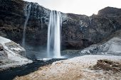 image of iceland farm  - Seljalandsfoss waterfalls in Iceland - JPG