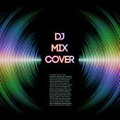 stock photo of waveform  - DJ mix cover with music waveform as a vinyl grooves - JPG