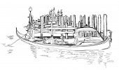 stock photo of gondolier  - Venice  - JPG