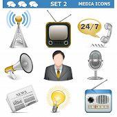 image of tv sets  - Media Icons Set 2 - JPG