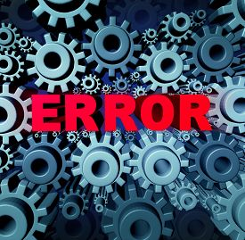 foto of not found  - Error page concept and a problem website with a broken or dead link symbol as a group of gears and cog wheels with three dimensional text breaking the network connection resulting in internet search not found - JPG